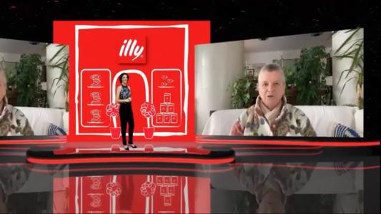 Participação em vídeo de Anna Illy durante a cerimônia virtual do 29º Prêmio, em 2020
