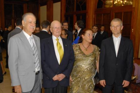 Aldir Teixeira, Ernesto Illy, Anna Illy e Andrea Illy no 14º Prêmio, em 2005
